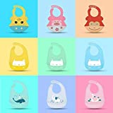 BIB008-02 One Size Special Offer Baby Bib Food Grade Silicone Drool bib Soft And Comfortable Saliva Towel Oil-proof Lunch Baby Bib Adjustable