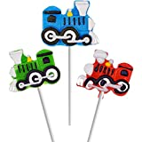 Fruidles Party Fun Train Lollipops Variety 12 Pack Mixed Fruit Flavor Party Suckers Perfect Train Party Favors For Your Train Birthday Party