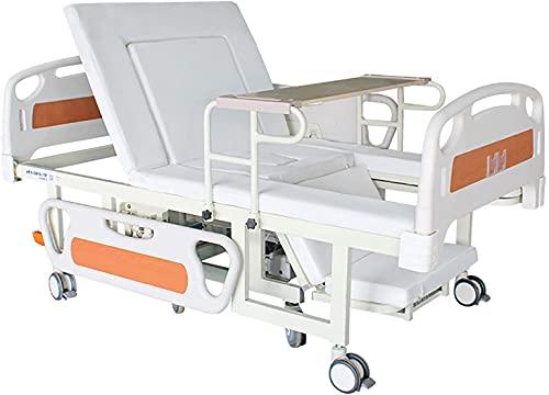 MQJ Cama Eléctrica de Hospital - Doble Función Eléctrica Manual de Lecho de Enfermería para la Silla de Ruedas Desmontable Incorporada Y Colchón de Esponja ✅