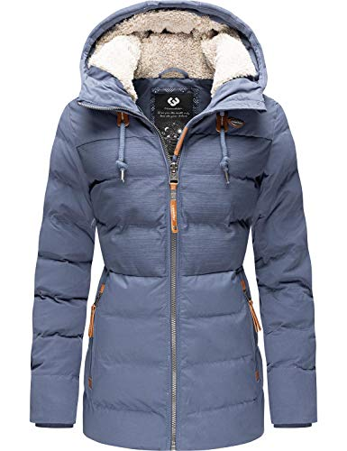 Ragwear Damen Winterjacke Steppjacke Winterparka mit Kapuze Quantic Blau Gr. XL