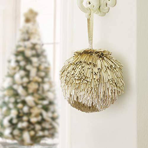 EDG ENZO DE GASPERI Decoro Palla Albero di Natale Furry Collection Colore Oro Diametro 14 cm