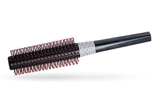 LUQX Haarbürste Spezial: Rundbürste mit Noppen Kunststoff (35 mm) | Antistatische Rundhaarbürste, runde Volumenbürste
