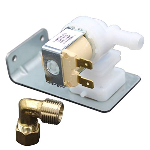 Supplying Demand 154637401 Dishwasher Water Inlet Valve With Plumbing Elbow Kit