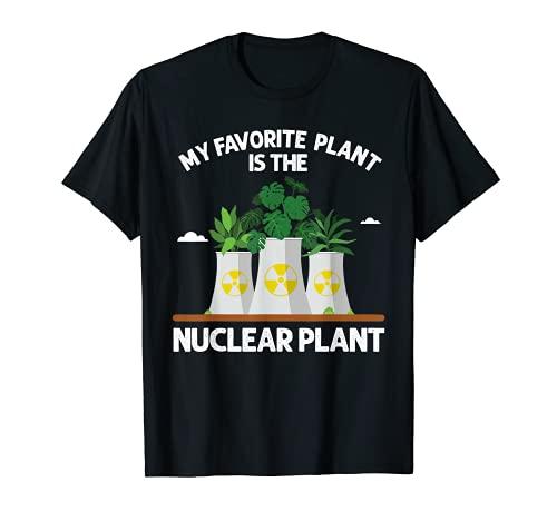 Progettazione nucleare divertente della pianta per l'ingegneria nucleare delle donne degli uomini Maglietta
