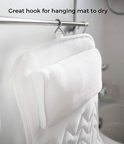 IndulgeMe Full Body Bath Pillow - Non-Slip, Plus Konjac Bath Sponge, Luxurious Mat, Bath Pillows for Tub Neck and Back Support