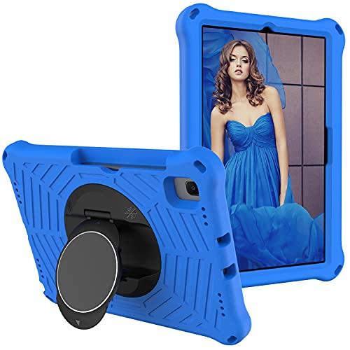 ZHIWEI Tablet PC Tasche Für Samsung Galaxy Tab S6 Lite 10.4 2020 SM-P610 / P615 Tablettengehäuse Kids Shock Proof Schutzabdeckung mit rotierendem Leichter und langlebiger Ständer, Schultergurt
