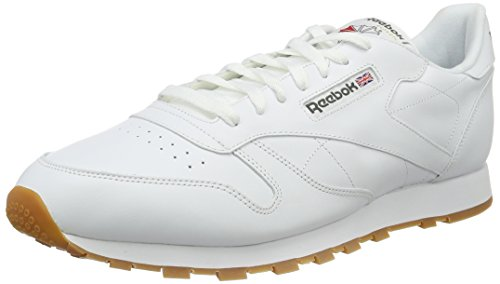 Reebok Herren Classic Leather Low-Top, Weiß (White/Gum), 44 EU