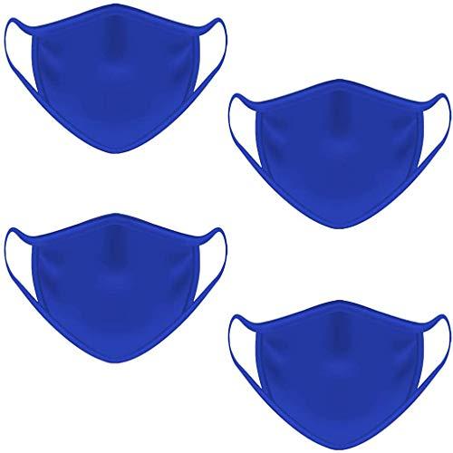 Akaide Mundschutz für Männer und Frauen, waschbar und wiederverwendbar, staubdicht, 4 Stück, Herren, blau, 1 PC