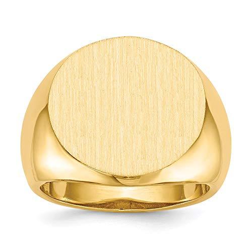 Anello da uomo con sigillo in oro giallo 14K - Taglia 10