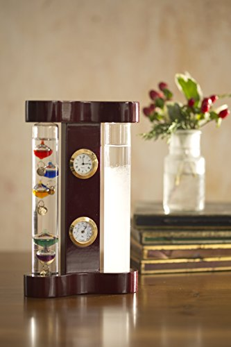 Galileo Weather Station with Storm Glass, Clock and Hygrometer