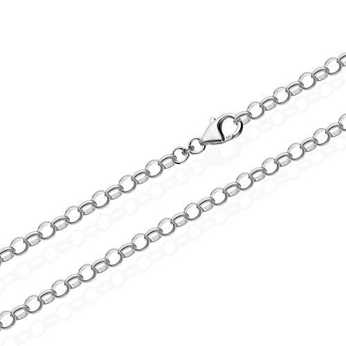 NKlaus 925 Sterlingsilber Silber Erbskette für Anhänger Silberkette 45cm 3,00mm 5,5gr 5645