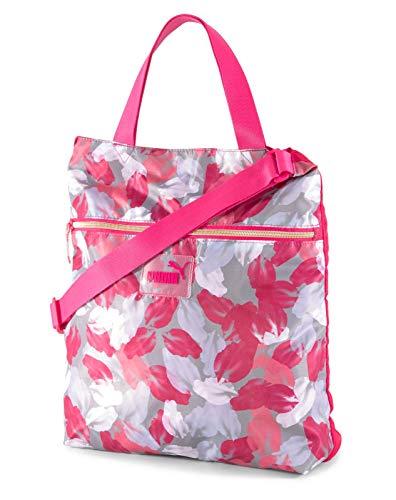 PUMA WMN Core Seasonal Shopper Bright Rose - Leaf AOP
