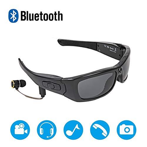 Bluetooth bril met polariserende UV-bescherming, Full HD 1080P videorecorder camera draagbaar voor kantoor, outdoor/opleiding, signaal/capret/dieren