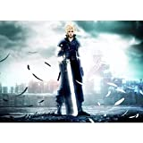 PENGDA 5d DIY Diamond Painting Wall Art Handmade Final Fantasy VII Crisis Core Game Character Cross Stitch Picture by Number Kit Home Decor Full Round Drill Embroidery Gifts