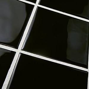 "SomerTile WRC4TWBO Torsio Square Ceramic Wall Tile, 3.75"" x 3.75"", Olive Black"