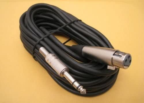 """2021 ANiceS 25FT online sale Premium XLR 3-Pin Female to 1/4"""" online sale Stereo Plug Mic Microphone TRS Cable Cord outlet online sale"""