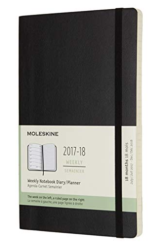 2017-2018 Moleskine Planner Weekly Large - Black Softcover