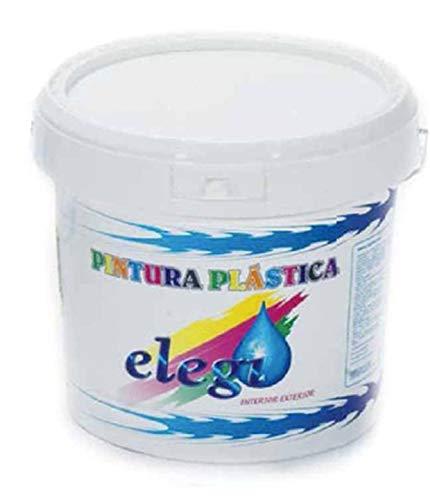 PINTURA PLASTICA BLANCA MATE LAVABLE DE ALTA CALIDAD - 5KG, INTERIOR-EXTERIOR