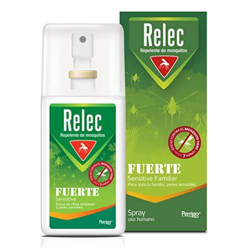 Relec Fuerte, Spray Antimosquitos, Repelente de mosquitos, Eficaz contral el mosquito tigre, Sin olor, sin perfume y sin alcohol, 75 ml