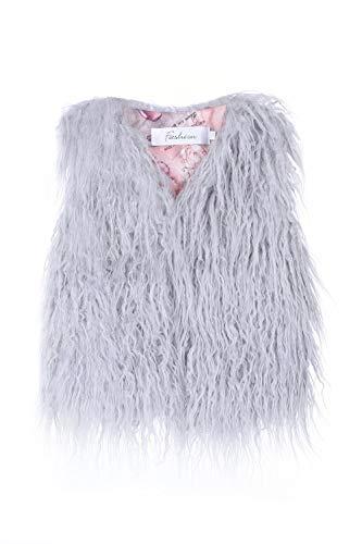 MisShow Baby Girls Shrug Faux Fur Vest Girls' Outerwear Jackets & Coats,Grey,140