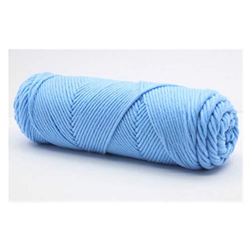 500 g/Lote Hilo de algodón de Leche de Seda Suave Natural para Tejer Baby Wool Ganchillo Swee Swee Swee Hilo Hilo de Tejer Chunky Hilado de Ganchillo (Color : 08 Skyblue)