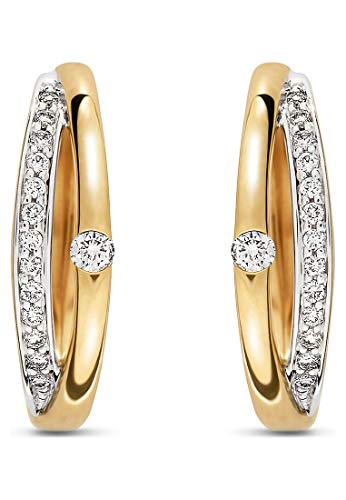 CHRIST Diamonds Damen-Creolen 585er Gelbgold 2 Diamant One Size 87720985