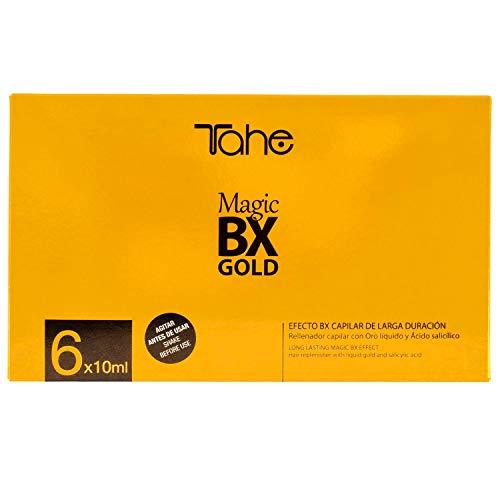 Tahe Magic BX Gold Concentré Redensifiant/Ultranutritif Traitement Capillaire 6 Flacons 6 Unités
