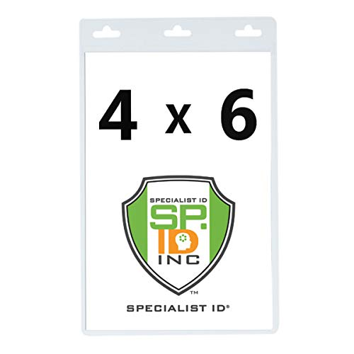 Vertical Oversized 4X6 Vinyl ID Badge Holder - XL46V by Specialist ID, Sold Individually