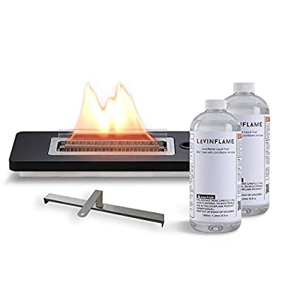 Lovinflame Tabletop Fireplace | Clean-Burning, Long-Lasting Wick, Wind-Resistant Design, for Indoor and Outdoor Use