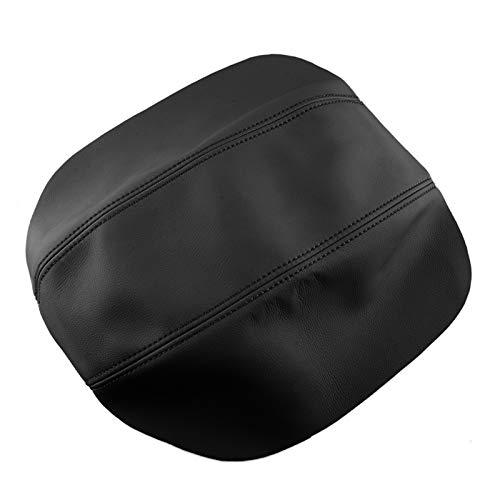 YJLLOVE YAGNJIAOLIAN Black Car Microfiber Cuero Console Center Box Lid...