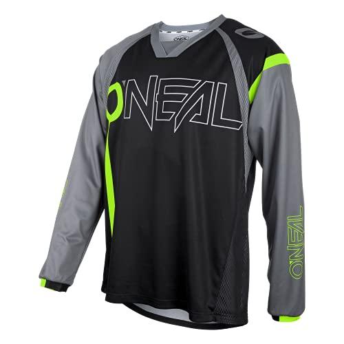 O'NEAL | Mountainbike-Trikot | MTB Mountainbike DH Downhill FR Freeride | Atmungsaktives Material, maximale Bewegungsfreiheit | Element FR Jersey Hybrid | Erwachsene | Schwarz Neon-Gelb | Größe XL