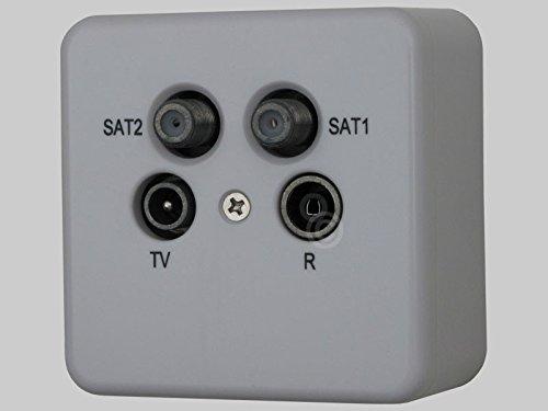 Antennendose Aufputz BK+2 SAT Stich 13dB 4-fach