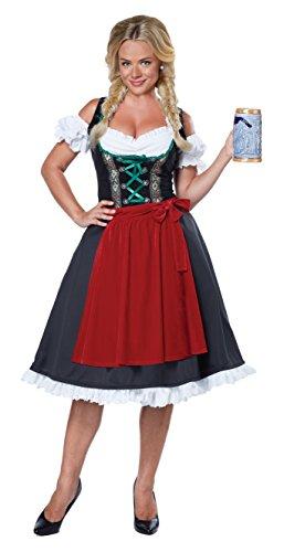 California Costumes Women's Oktoberfest Fraulein Costume, Black/Red, Large