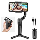 Feiyu Gimbal VLOG Pocket, Foldable Phone Stabilizer, Handheld 3-Axis Gimble with One Key Orientation Toggle for iPhone 11/pro/max/XS and All Smartphones (Pocket-Size)