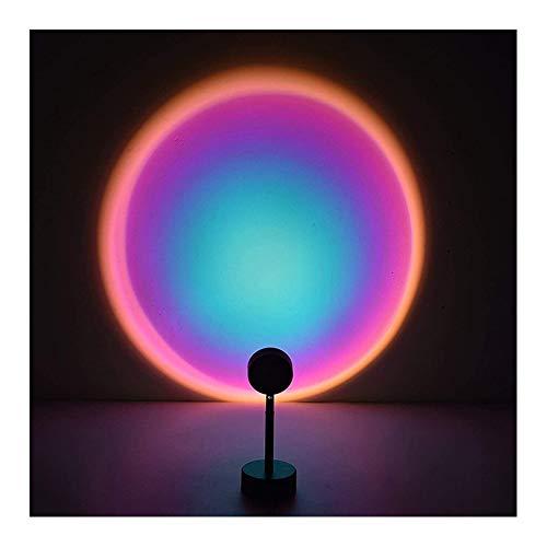 Vanities Lámpara de proyección Puesta de Sol Rojo LED proyector Lámpara Luz, rotación de 90 Grados Puesta de Sol Noche Luz para la Fiesta de la Fiesta de la Fiesta Decoración (Color : Rainbow)