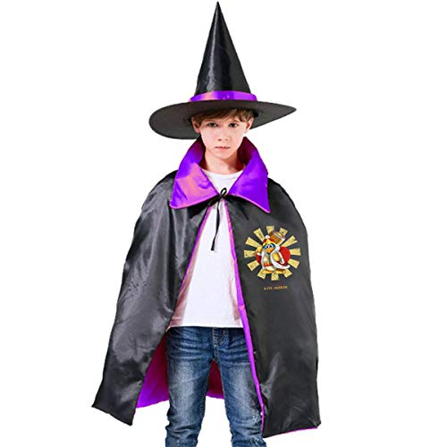 King Dedede Retro Japanese Kirby Unisex Kids Hooded Cloak Cape Halloween Party Decoration Role Cosplay Costumes Outwear Purple