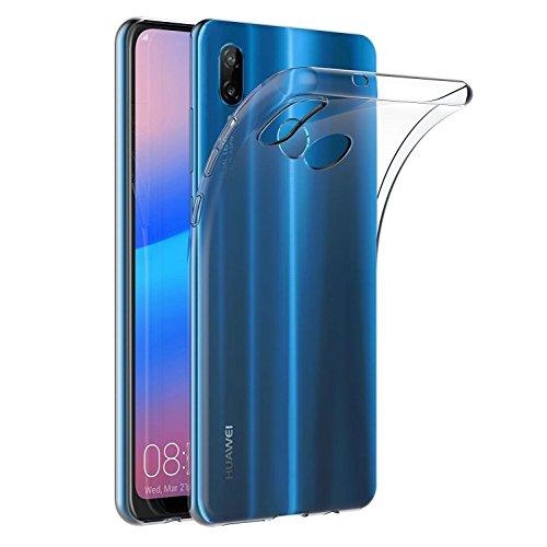 Capa para Huawei P20 Lite/Huawei Nova 3e (5,84 polegadas) MaiJin Capa Traseira Transparente de Gel de Borracha TPU Macio