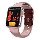 Smart WatchFitness, Swimming Fitness Optical Freques Sensor Sensor Tracker Tracker Impermeabile (Color : Pink)