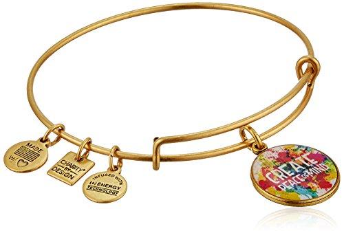 Alex and Ani Peace of Mind Rafaelian Gold Bangle Bracelet