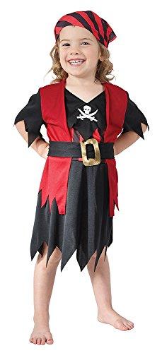 Theme Fancy Dress Disfraz de niña de Pirata del Caribe. 3 años