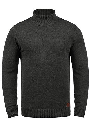 Blend Latif Herren Rollkragenpullover Pullover Strickpullover mit Rollkragen, Größe:XL, Farbe:Charcoal (70818)