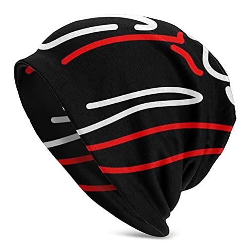 Gorro con logotipo de neón para hombres y mujeres, diseño de labios y lengua, gorro de verano para dormir en primavera, verano, otoño e invierno