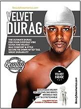 Premium Velvet Durag Secured Tie Down Long Tail White