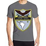 UiikIIDl Camisetas y Tops Hombre Polos y Camisas Us Southern Command Workout Shirts for Men, Moisture Wicking Quick Dry Active Athletic Men's Gym Performance T Shirts
