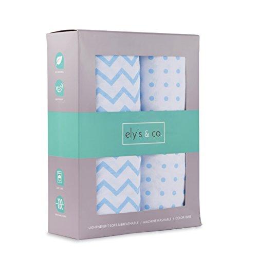 Crib Sheet Set | Toddler Sheet 100% Jersey Cotton 2 Pack (Baby Blue)