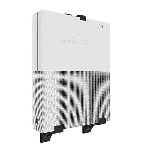 GENIALISS Soporte Base para Consola Xbox One X S Elite de Pared / Base Minimalista Xbox One X / Soporte de Pared Consola Xbox One S / Base De Pared