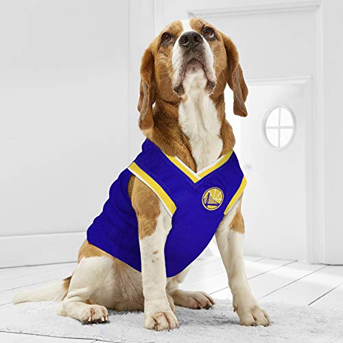 NBA GOLDEN STATE WARRIORS DOG Jersey, Medium - Tank Top Basketball Pet Jersey