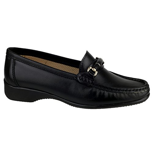 Cotswold Barrington Damen Schuhe/Loafer/Mokassins (40 EUR) (Schwarz)