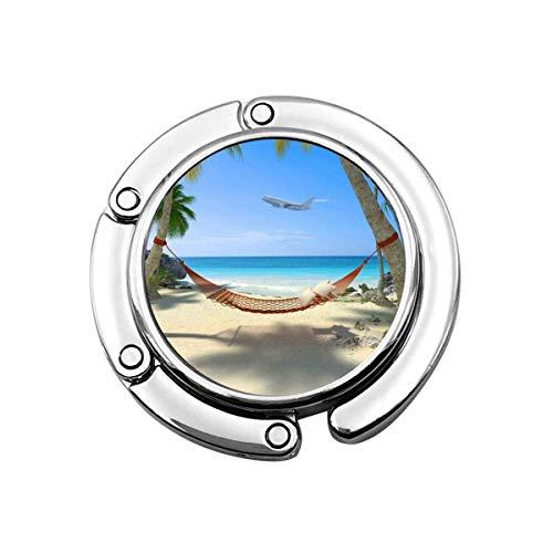 Gancho para Monedero Playa Tropical con una Hamaca Que cuelga de Palmeras...