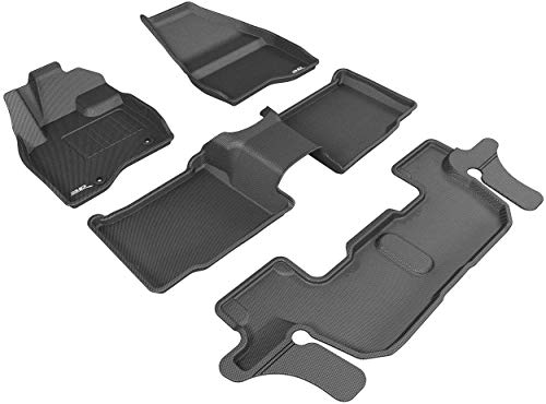 3D MAXpider All-Weather Floor Mats for Ford Explorer 2015-2016 (2nd Row Bucket...